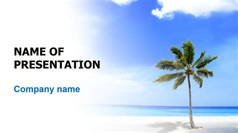 Vacation Powerpoint Presentation Templates Download Free Vacation Beach Powerpoint Template For Presentation Eureka Templates