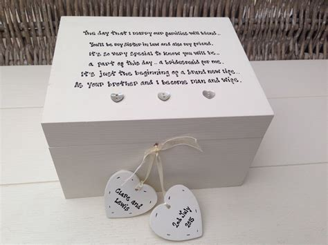 Wedding Gift Jewelry by Shabby Personalised Chic Bridesmaid In Wedding