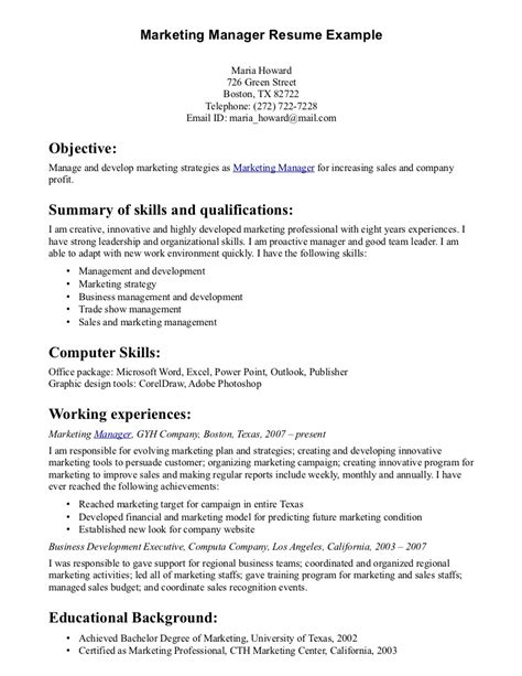 Resume Skills Exles Marketing Sle Leadership Resume Aix System Administration Sle Resume