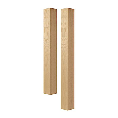 Column L by Wood Columns And Legs Five Inch Square Column Bar Height Island Height