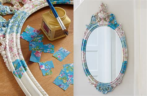 how to make decoupage how to make a decoupage mirror goodtoknow