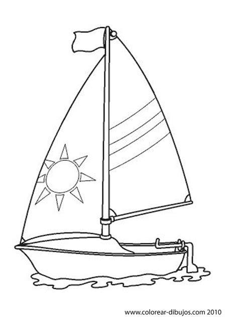 dibujo barco velero para colorear maestra de primaria medios de transporte acu 225 ticos para