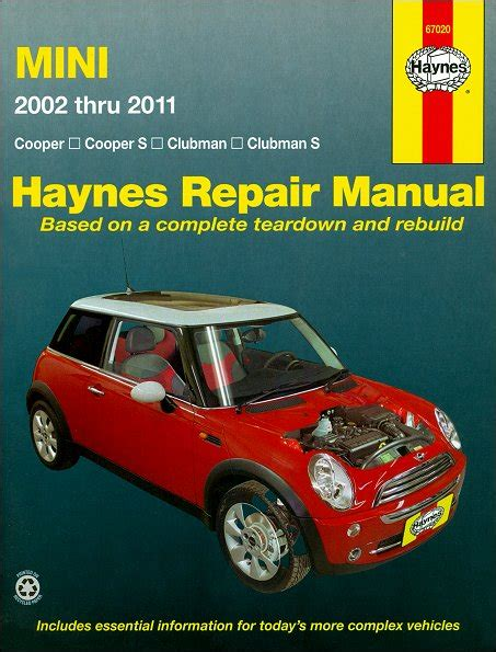 auto repair manual online 2011 mini clubman electronic toll collection mini cooper clubman s repair manual 2002 2011 haynes 67020
