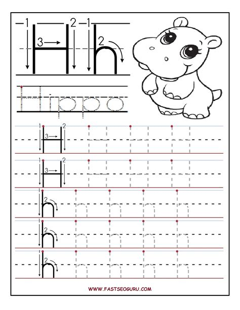 worksheets for preschoolers tracing letters printable letter h tracing worksheets for preschool