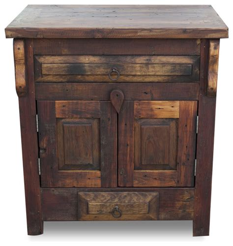 Wood Vanity by Reclaimed Wood Vanity Single Sink 36x20x32 Rustic