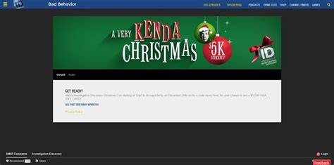 Discovery Sweepstakes - investigationdiscovery com giveaway a very kenda christmas 5k