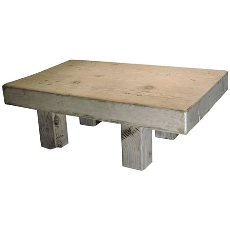 Block Coffee Table Whitewashed Wood Block Coffee Table For Sale At 1stdibs