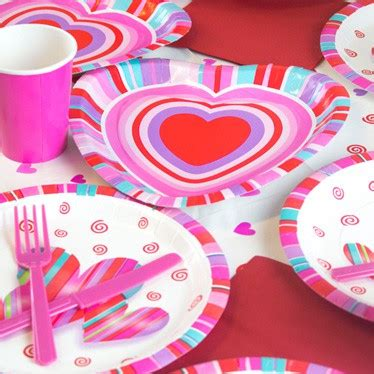 valentines day tableware valentines tableware and catering partyrama