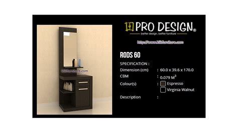 Meja Rias Pro Design meja rias kaca minimalis rods 60 roma pro design