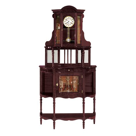 grandfather clock curio cabinet grandfather curio clock model svr 86 altobelantonio com