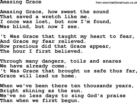 printable lyrics chords 9 best images of amazing grace chords to words with