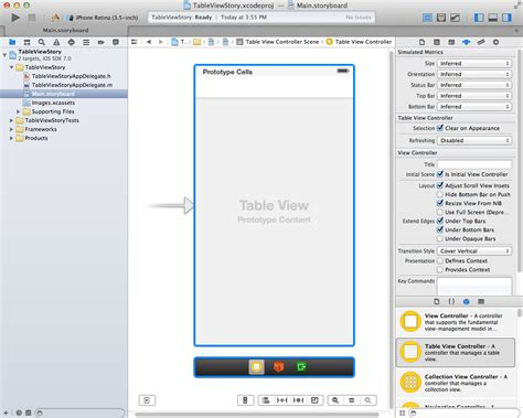 xcode table layout using xcode 5 storyboards to build dynamic tableviews with