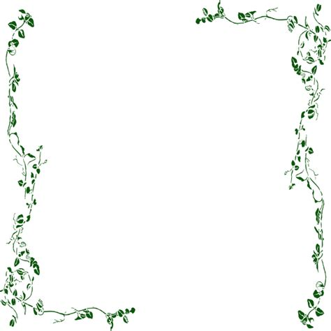 frame clipart vine pencil and in color frame clipart vine