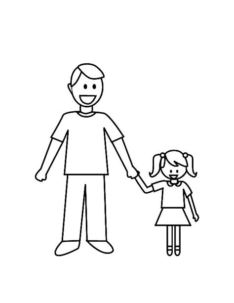 daddy   daughter  love dad coloring pages