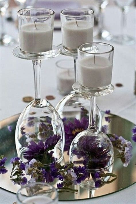 Wine Glass Centerpieces Home Made Diy Pinterest Wedding Centerpieces With Wine Glasses