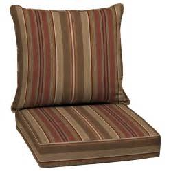 Patio Chair Cushions Lowes Shop Allen Roth Stripe Chili Seat Patio Chair