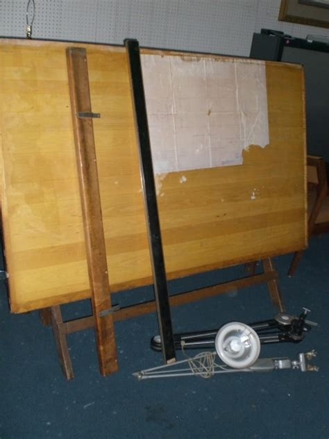 Vintage Hamilton Wood Drawing Drafting Table W Vemco Ebay Vemco Drafting Table