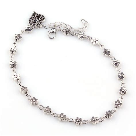 Chain Anklet silver bead chain anklet ankle bracelet barefoot