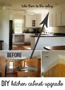 diy kitchen cabinet upgrade with paint and crown molding - upgrades put kitchen cabinets to work hgtv