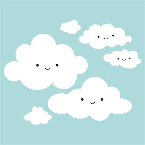wallpaper sticker awan happy clouds wall decal baby nursery cloud appliqu 233 kids room