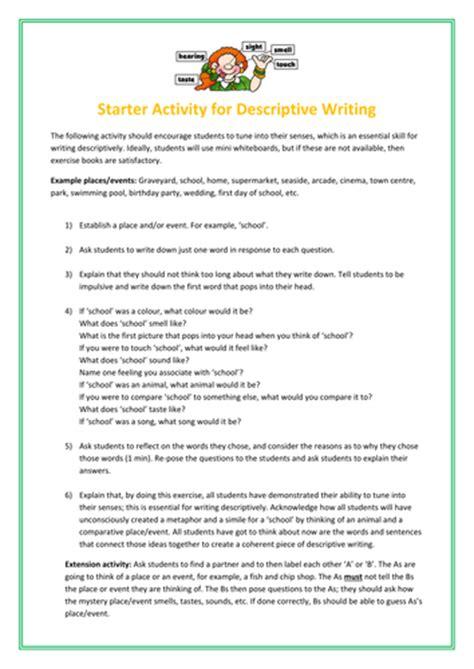 Descriptive Essay Exercises by Ks3 Descriptive Writing Writing To Describe Lesson Creative Exercise By Debzy87