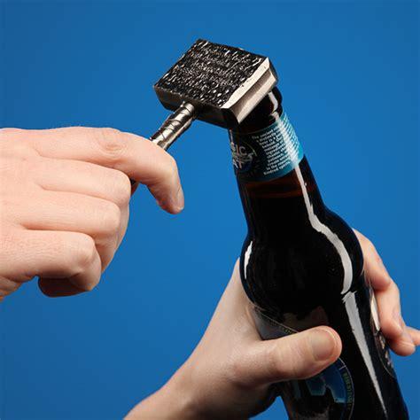 hammer of thor bottle opener thinkgeek
