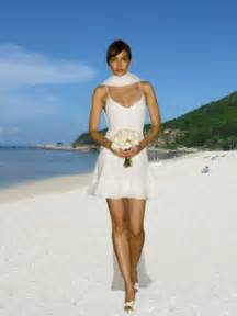 Wedding trend ideas casual short beach wedding dresses
