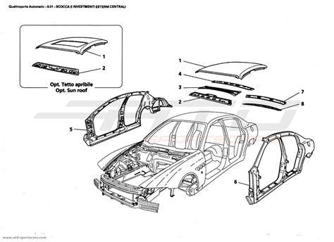 maserati parts catalog maserati quattroporte 4 2l boite auto 2006 central outer