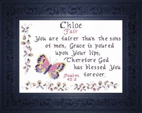name blessings chloe personalized names with meanings