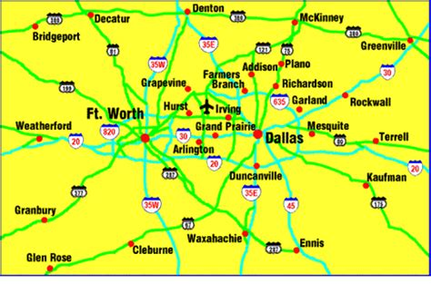 map dallas texas surrounding area map of dallas photos map pictures