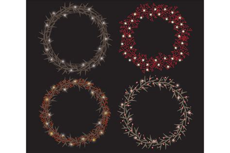 christmas string lights set by lunalexx design bundles