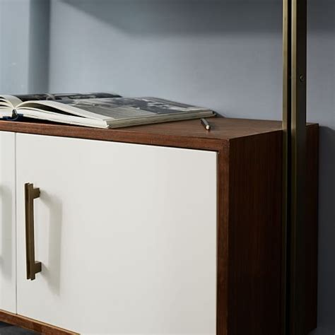 Linden Mid Century Wall Desk by Linden Mid Century Wall Desk Shelf Set With Storage