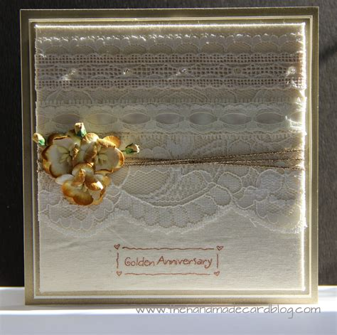 Handmade Golden Wedding Cards - 50th wedding anniversary card the handmade card