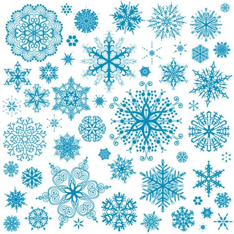 free snowflake background pattern different snowflake patterns design elements vector 03