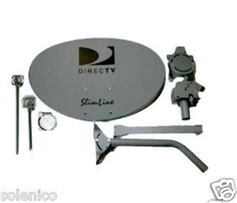 4 kit swm directv ka ku hd sl3 slimline mpeg4 3 lnbf complete dish antennas w power