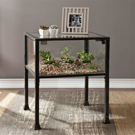 terrarium table southern enterprises black terrarium end table hd865263