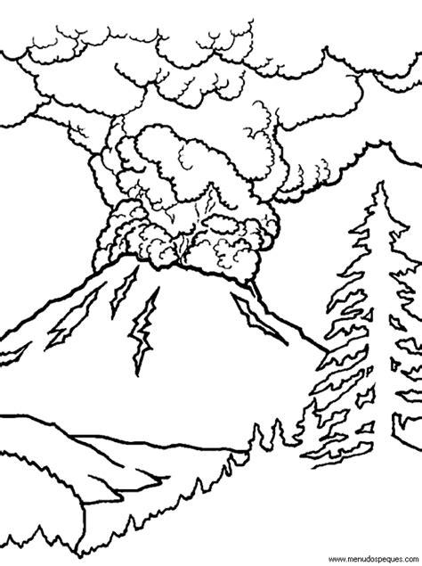 imagenes de paisajes que se puedan dibujar volc 225 n en erupci 243 n para colorear