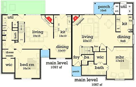 cheap duplex plans affordable duplex house plan 55170br 1st floor master suite loft pdf architectural designs
