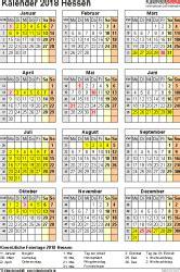 Kalender 2018 Hessen A4 Kalender 2018 Hessen Ferien Feiertage Word Vorlagen