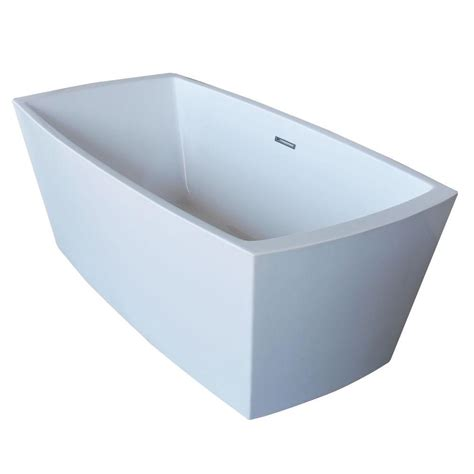 Bathtub With Center Drain by Anzzi Arthur 5 6 Ft Acrylic Center Drain Freestanding
