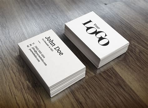 ups business card template realistic business card mockup graphicburger