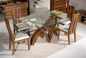 Glass Wood Dining Table Sets Dining Table Bases For Glass Tops Homesfeed