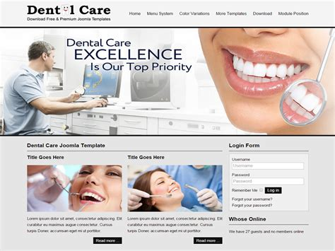 9 Best Medical Joomla Free Templates In October 2015 Free Dental Templates