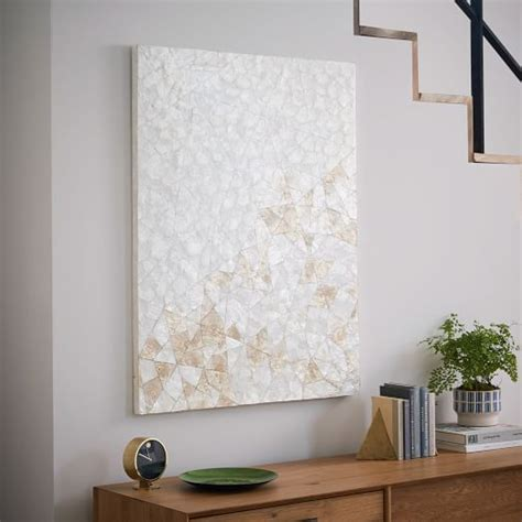 capiz home decor capiz wall art crystal formation west elm