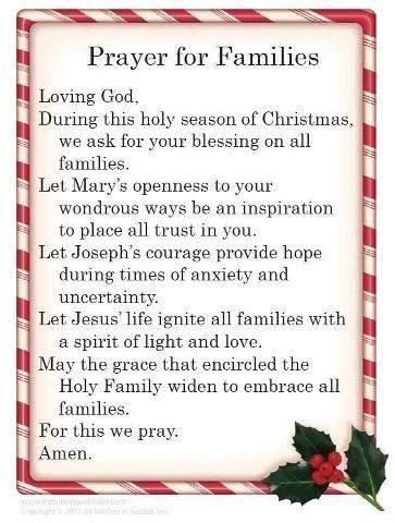 christmas prayer  family prayer  families sayings christmas prayer prayer