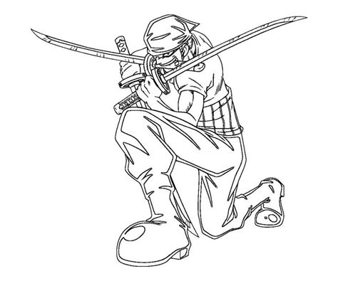 coloring page zoro roronoa zoro 11 coloring crafty teenager