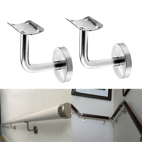 Banister Wall Brackets by Pair Of Stainless Steel Handrail Stair Wall Brackets