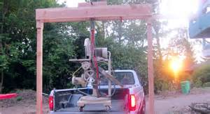 Make A Wood Bench Build A Wooden Gantry Crane To Move Your Heaviest Tools