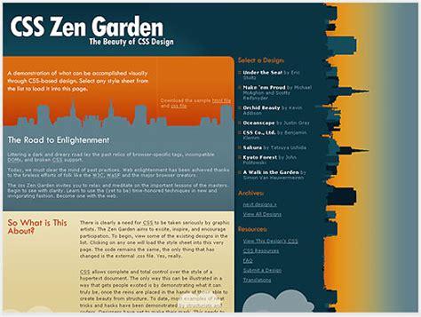 css tutorial zen garden zen garden design layout photograph here i ve selected 2
