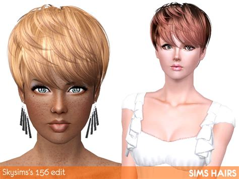 short hairstyles for sims 3 skysims s 156 short hairstyle highlight edit by sims hairs